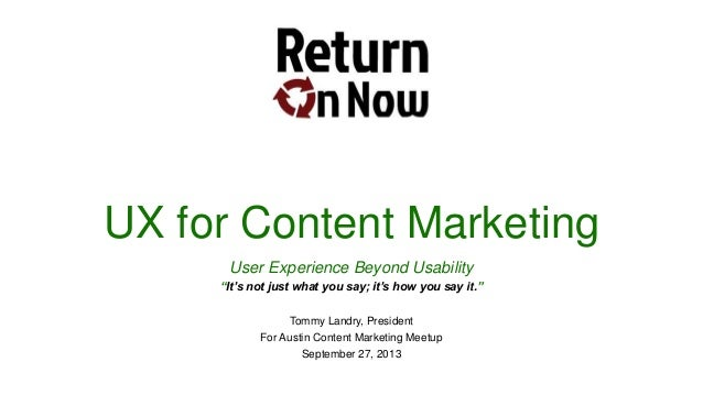 UX for Content Marketing