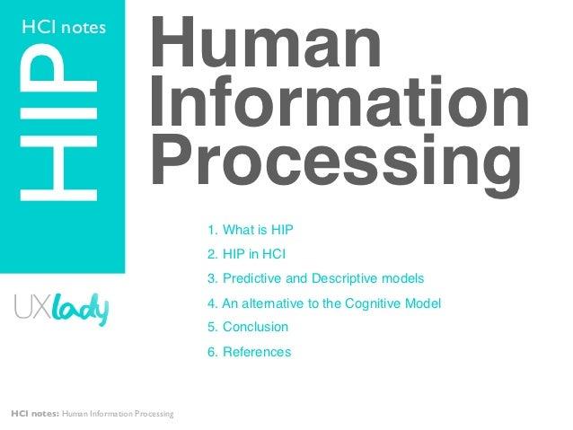 HCI notesHIP                             Human                                Information                                P...