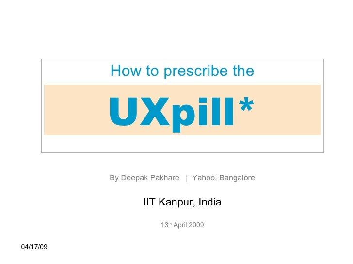 User Experience presentation