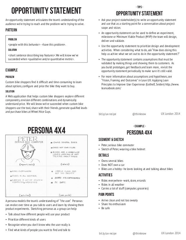 UX Recipe Cards