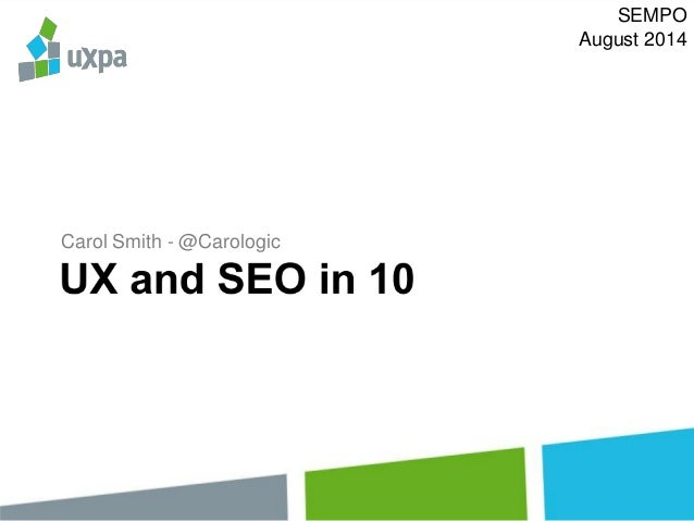 UX in 10 Minutes - Usability Testing - Presented at SEMPO