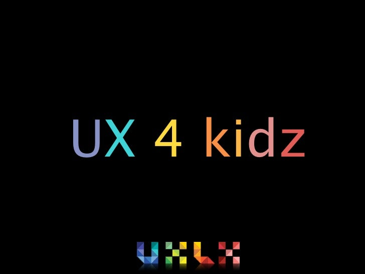 User Experience for kids preview