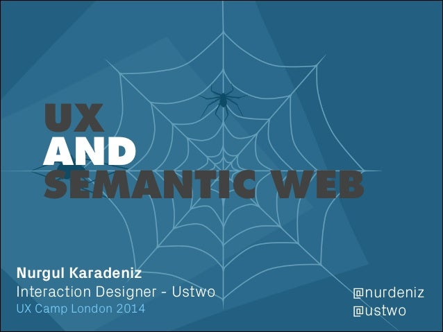 ! Nurgul Karadeniz Interaction Designer - Ustwo UX Camp London 2014 UX AND