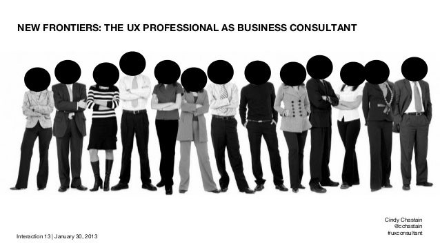 NEW FRONTIERS: THE UX PROFESSIONAL AS BUSINESS CONSULTANT   TITLE   SUBTITLE                                              ...