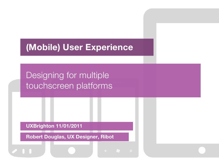 Designing for Multiple Mobile Platforms