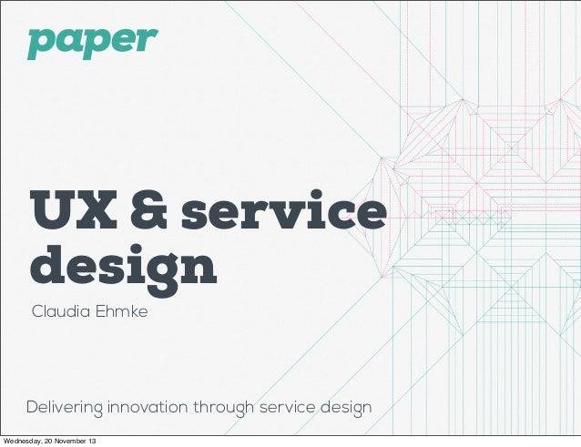 Ux & Service design intro