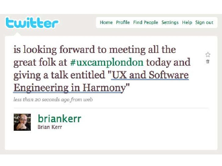 UX and Engineering in Harmony!<br />Brian Kerr<br />bkerr@ivarjacobson.com<br />