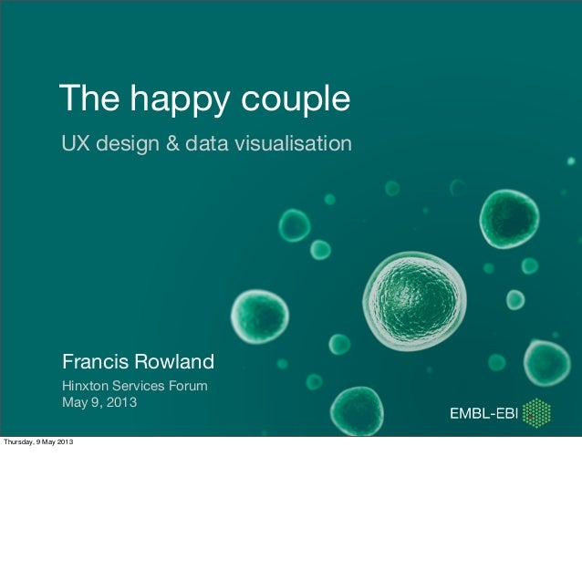 The happy coupleUX design & data visualisationFrancis RowlandHinxton Services ForumMay 9, 2013Thursday, 9 May 2013