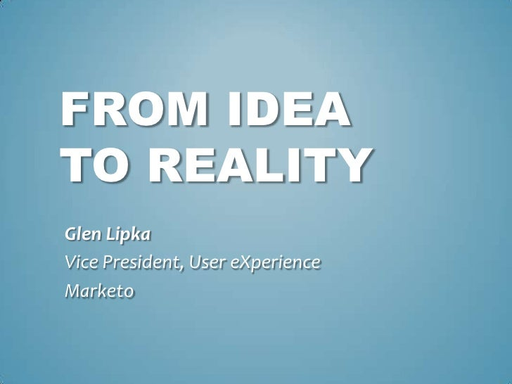 UX Eye - From Idea to Reality