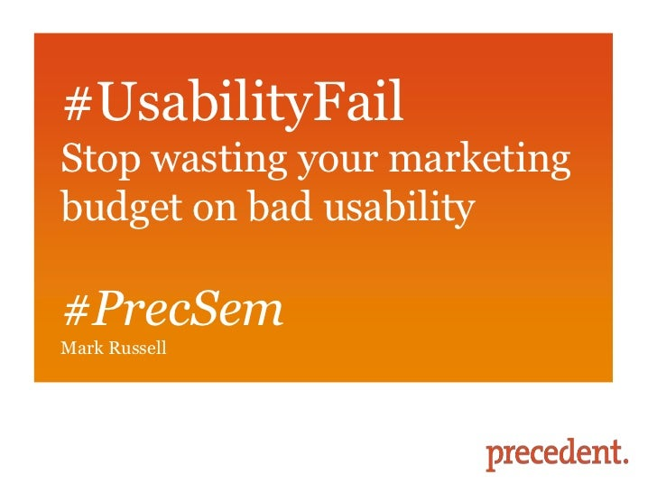 Usability fail - PSMG March 2012