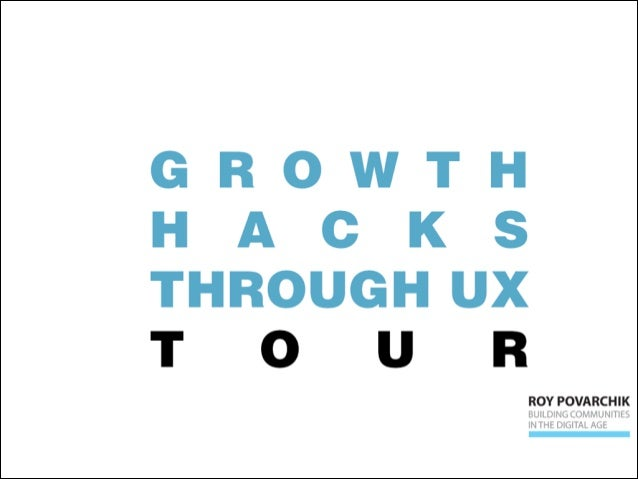 How to Growth Hack through UX