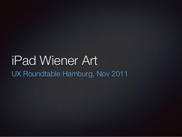 iPad Wiener Art