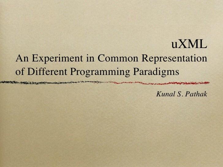 U Xml Defense presentation