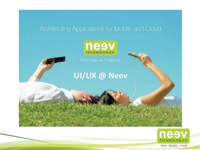 UX @ Neev