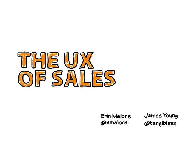 UX of Sales - IA Summit 2014