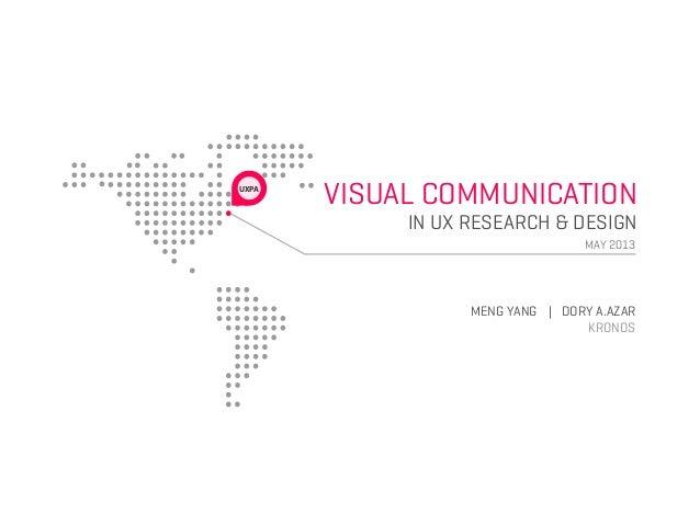VISUAL COMMUNICATIONIN UX RESEARCH & DESIGNMAY 2013UXPAMENG YANG | DORY A.AZARKRONOS