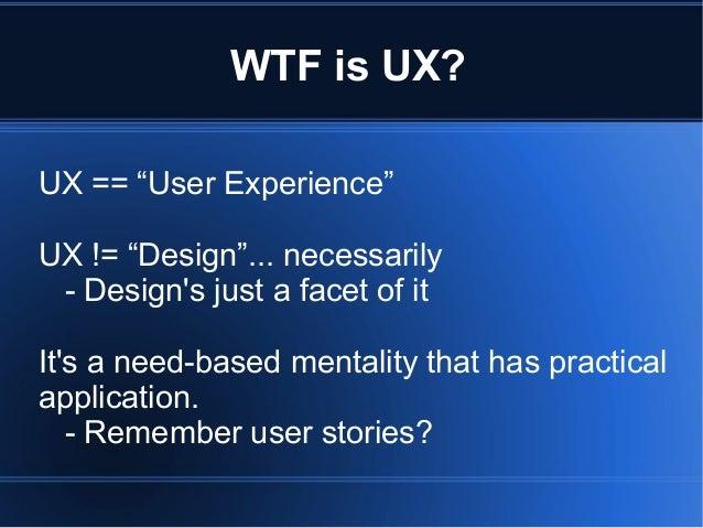 Ux presentation