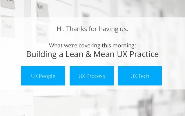 The Business of UX - People Process and Tech - Miner, Toft