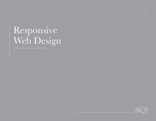 Links, Resources & Tools Responsive Web Design