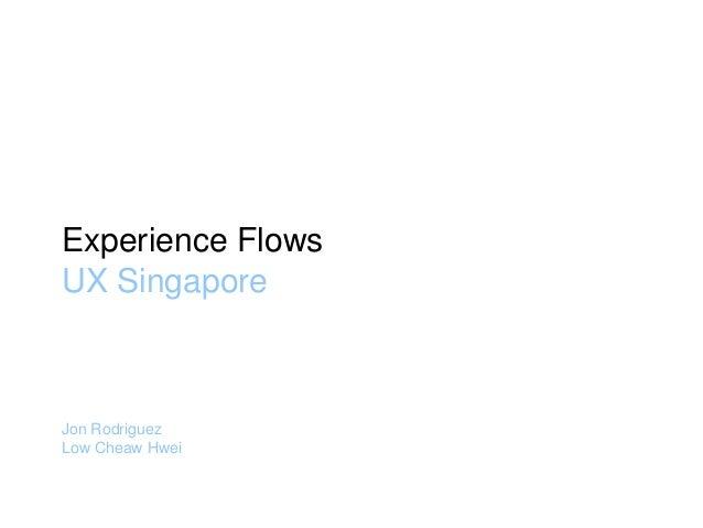 2012 Experience Flows UX Singapore Jon Rodriguez Low Cheaw Hwei