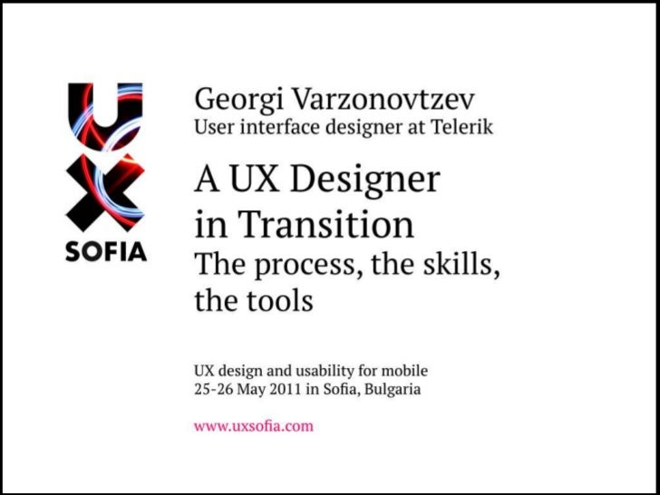 A UX Designer in Transition: from websites to software (UX Sofia)