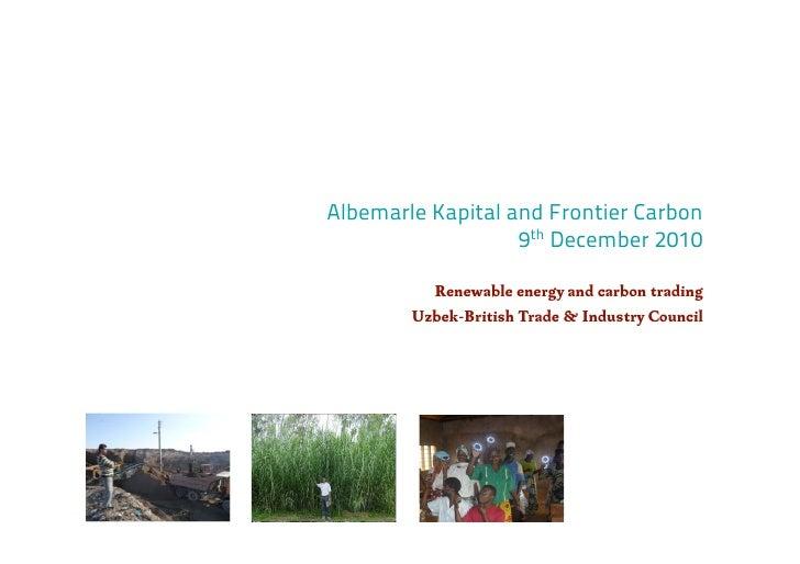UBTIC Uzbek Carbon Trading - 2010