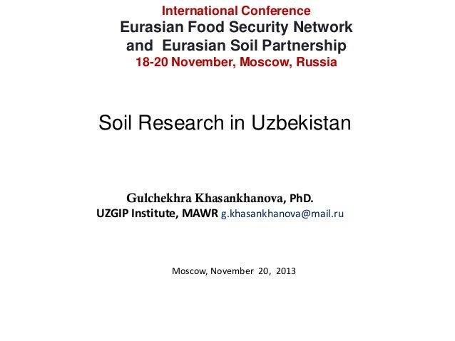Soil research in uzbekistan gulchekhra khasankhanova for Soil research impact factor