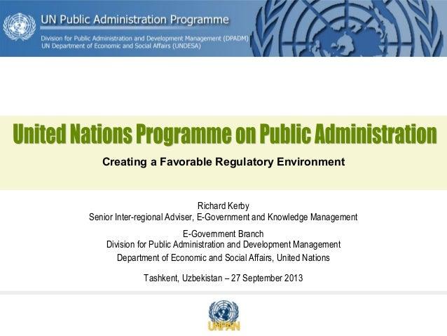 Uzbekistan regulatory environment