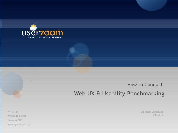 UserZoom Big D talk UX Benchmarking
