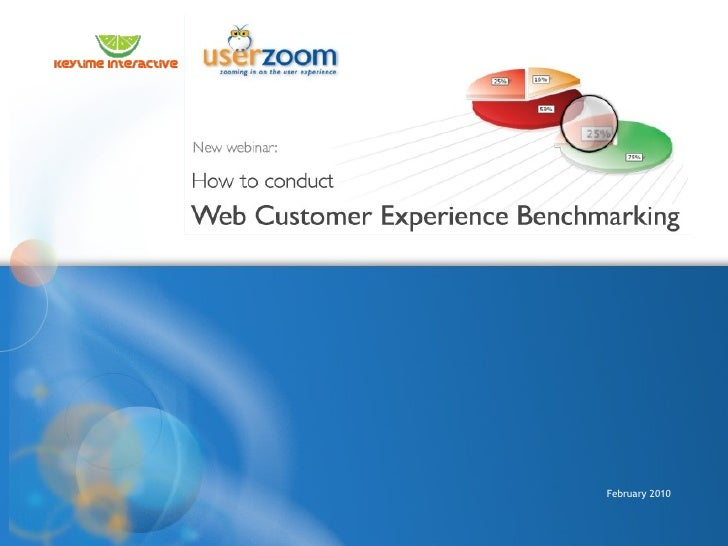 UserZoom Webinar: How to Conduct Web Customer Experience Benchmarking