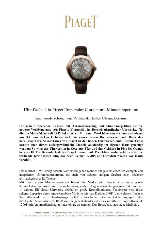 Ultraflache Uhr Piaget Emperador Coussin mit Minutenrepetition            Eine wunderschöne neue Partitur der h...