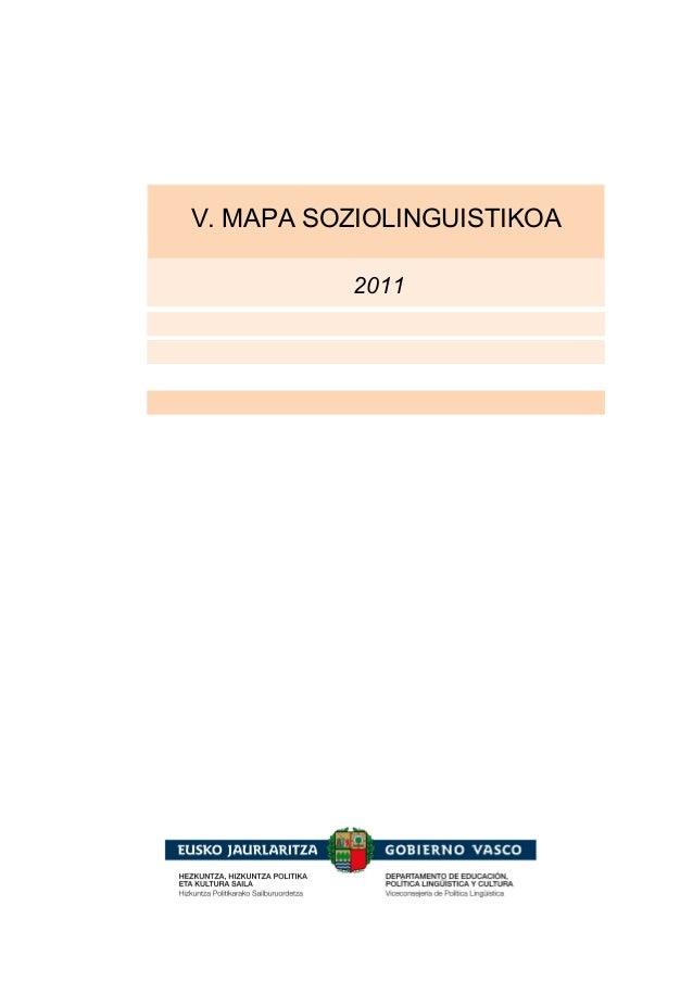 2011 V. MAPA SOZIOLINGUISTIKOA