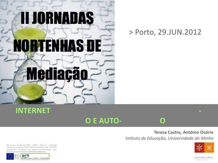 internet, crianças, jovens e violência online: mediação e auto-regulação