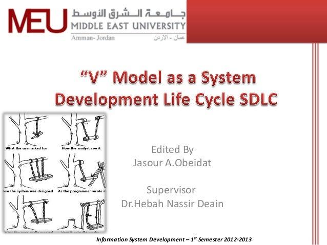 Edited By             Jasour A.Obeidat             Supervisor        Dr.Hebah Nassir DeainInformation System Development –...