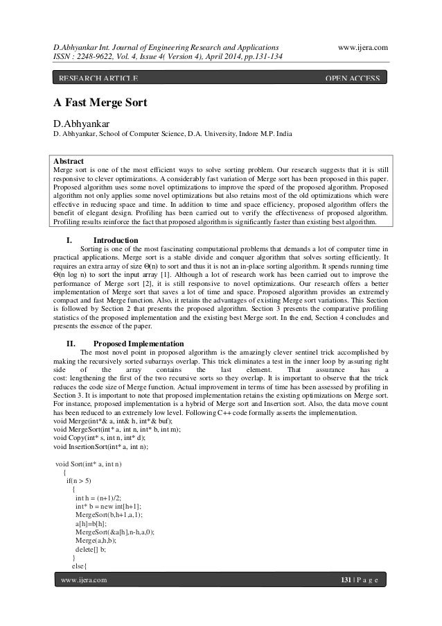 D.Abhyankar Int. Journal of Engineering Research and Applications www.ijera.com ISSN : 2248-9622, Vol. 4, Issue 4( Version...