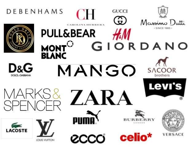 Fashion Clothing Brands Logos