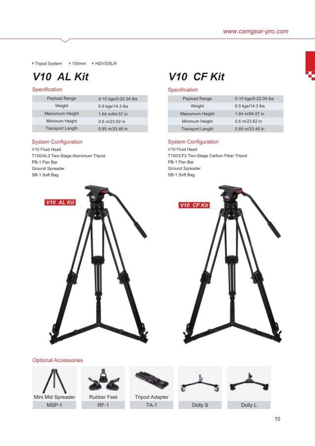 Camgear V10 AL & CF brochure