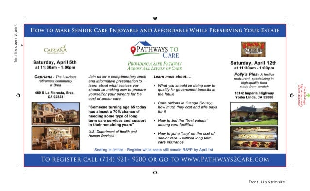 Complimentary Luncheon to Learn How to Pay for Senior Care in Brea & Yorba Linda California