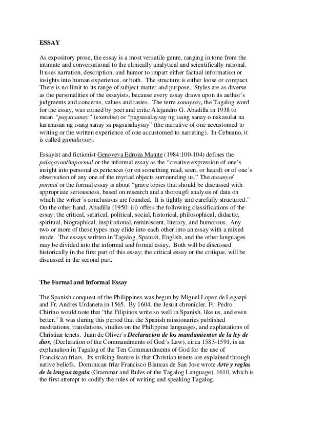 an expository essay topics