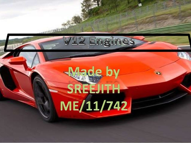A V12 engine is a V engine with 12 cylinders mounted on the crankcase in two banks of six cylinders, usually but not alway...