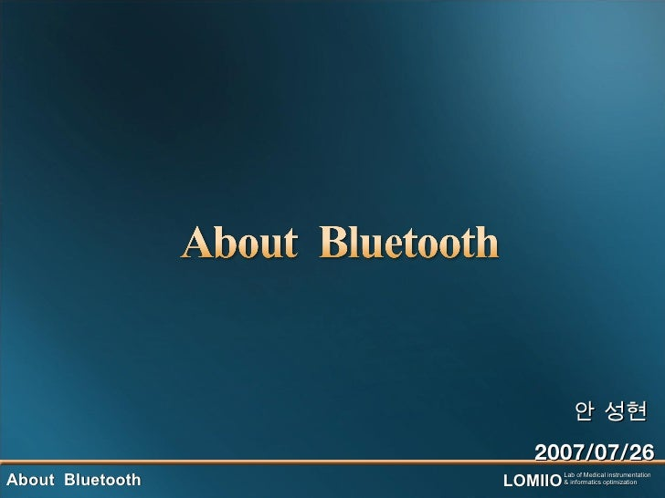 V1about Bluetooth