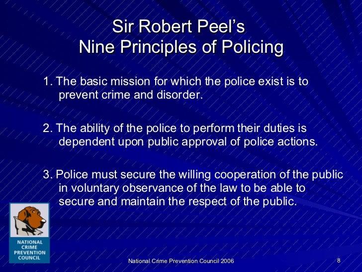 robert peel nine principles essay