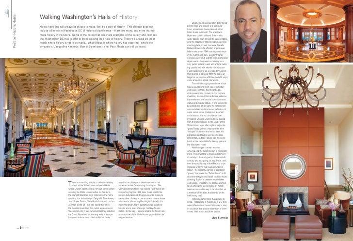 Walking Washington's Halls of History Preface - Historic Hotels                                                           ...
