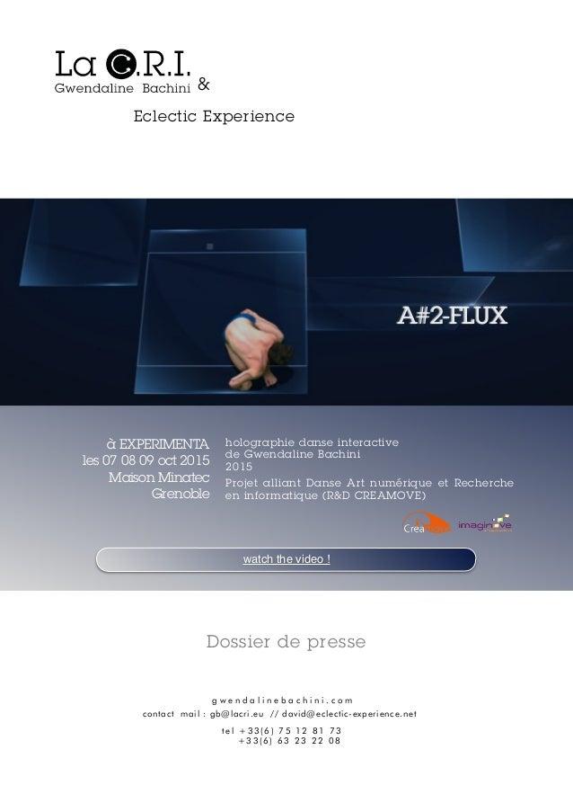 Projet alliant Danse Art numérique et Recherche en informatique (R&D CREAMOVE) holographie danse interactive de Gwendali...