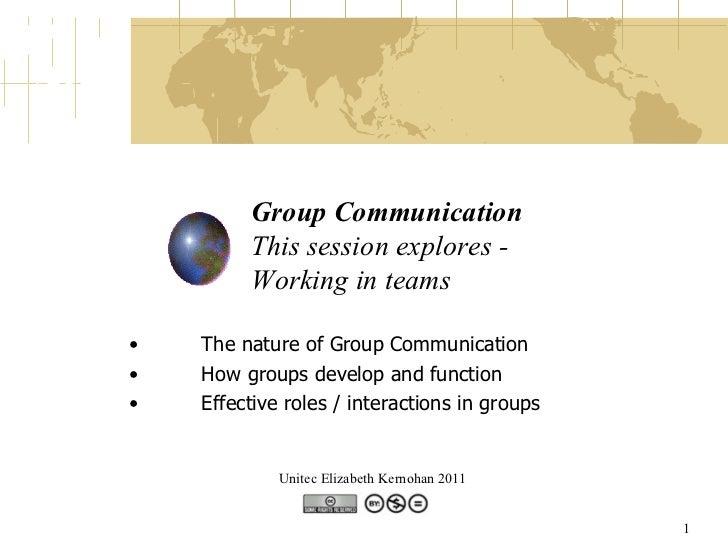 Group Communication - Working in teams (by Elizabeth Kernohan)