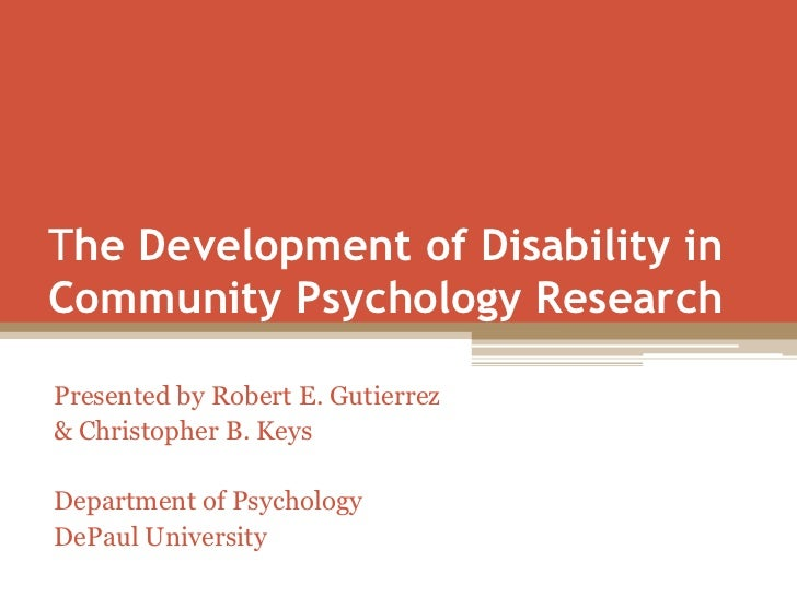 The Development of Disability in Community Psychology Research