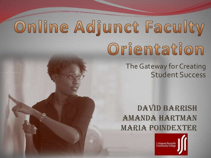 Online Adjunct Faculty Orientation