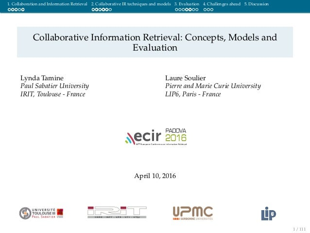 Collaborative Teaching Concepts : Collaborative information retrieval concepts models and