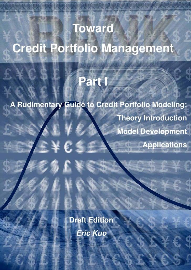 Toward Credit Portfolio Management