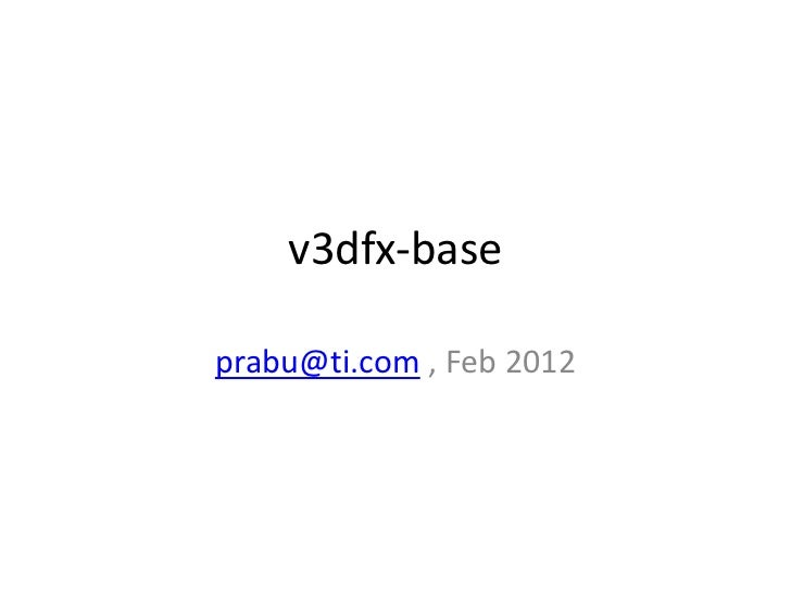 Introduction to video streaming on SGX through v3dfx-base